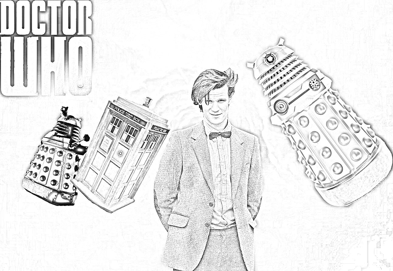7 Free Doctor Who Fan Art Coloring Books Plus Bonus Within Dr