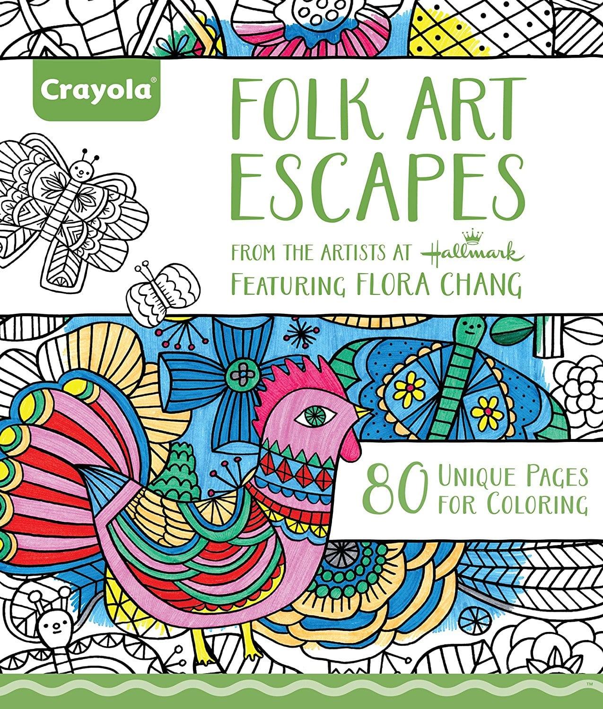 Amazon Com  Crayola Folk Art Escapes Coloring Book  Toys & Games