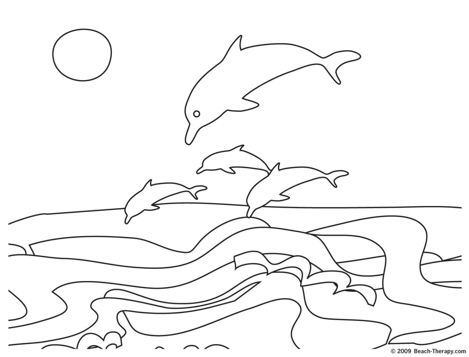 Adult Coloring Pages Beach Sunset Download