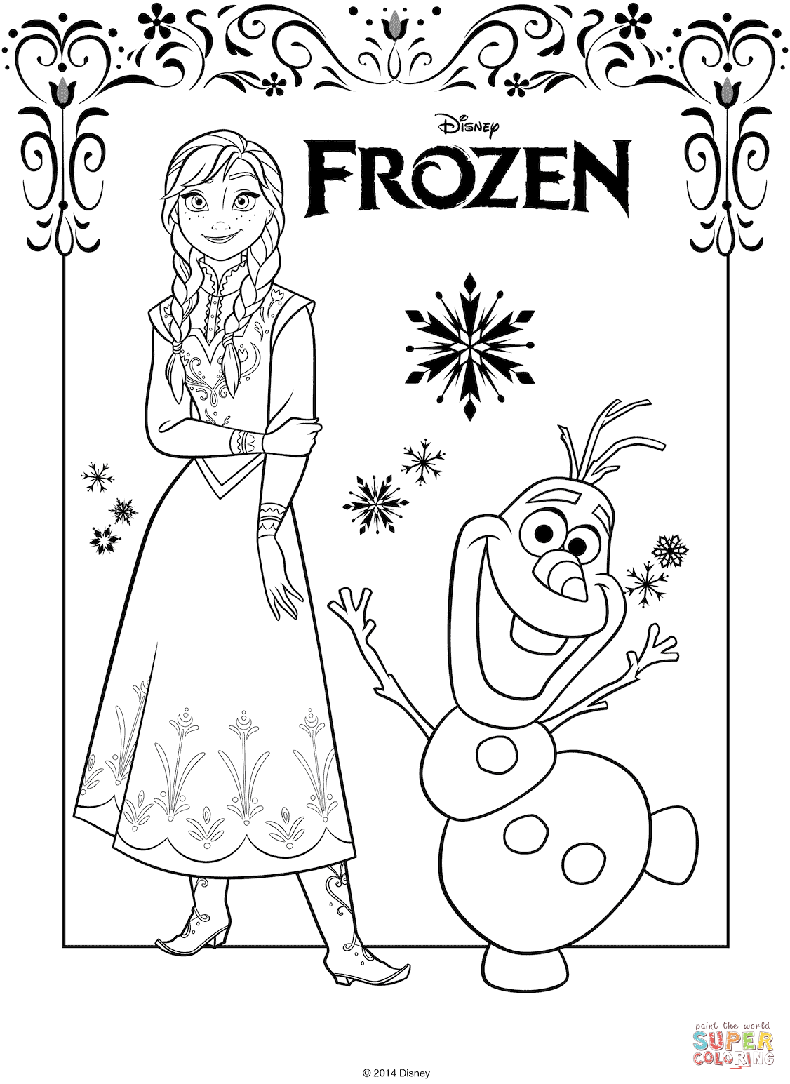 The Frozen Coloring Pages