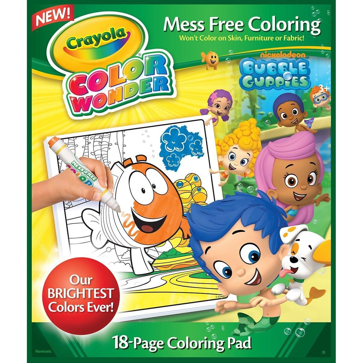 Awesome Bubble Guppies Coloring Book Amazon Com Crayola Color