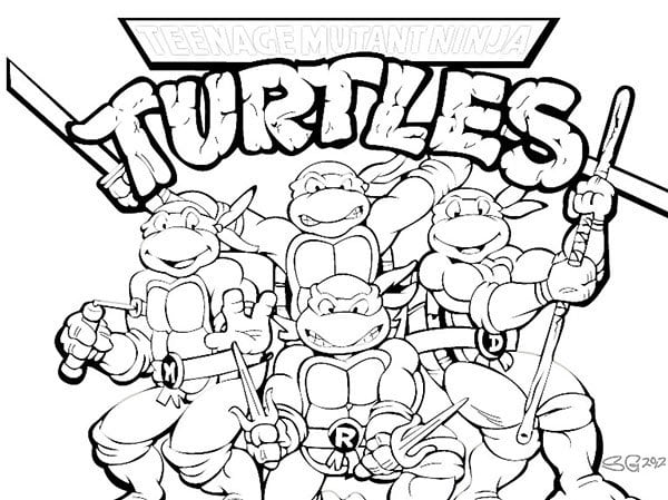 Popular Ninja Turtles Coloring Book