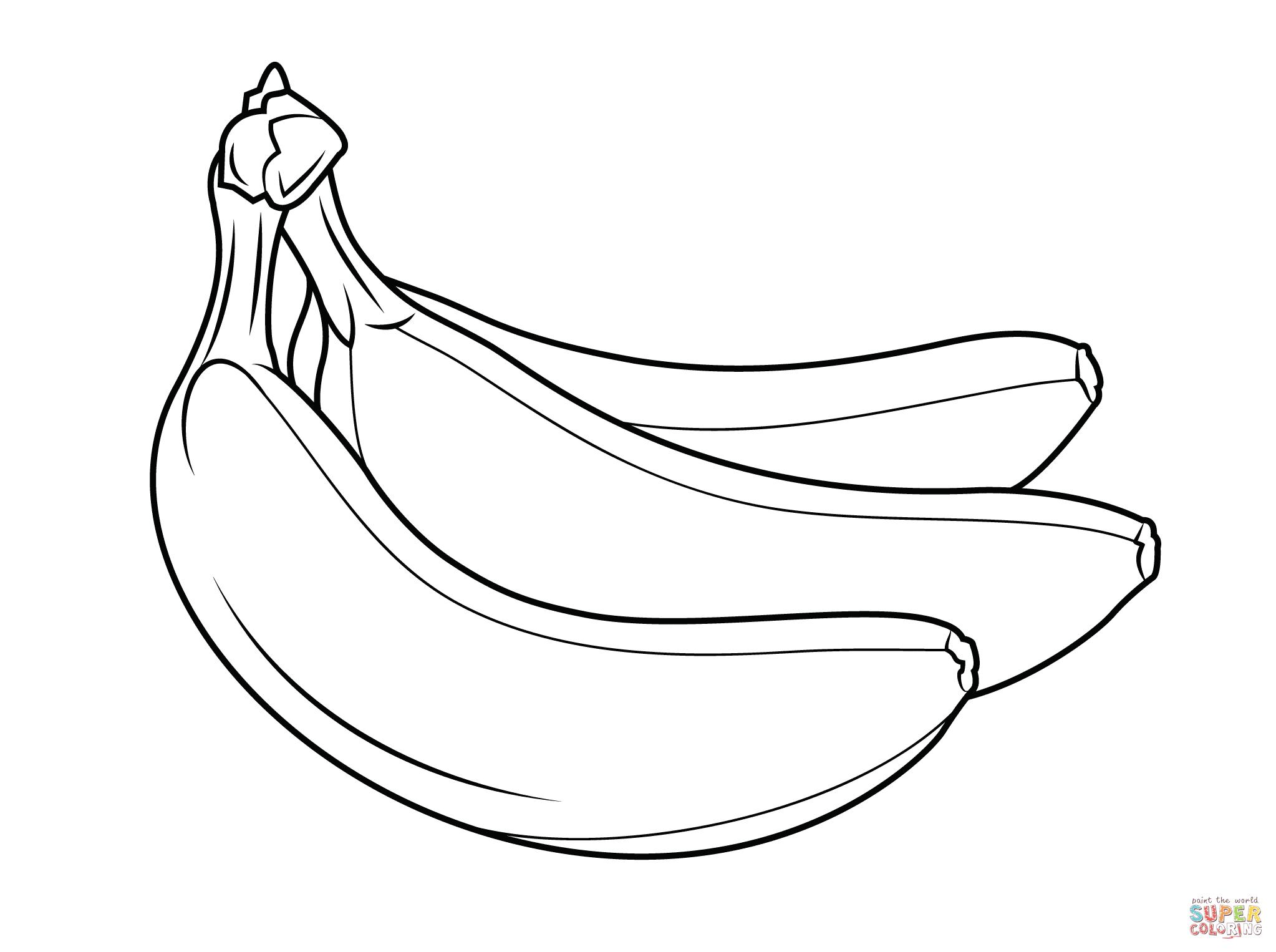 Bananas Coloring Pages Free And Banana Page