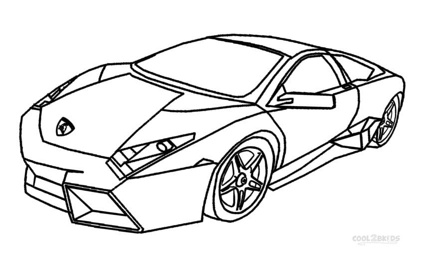Amazing Decoration Lamborghini Coloring Pages Printable
