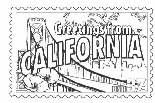 California State Stamp Coloring Page Classbrain S Reports With