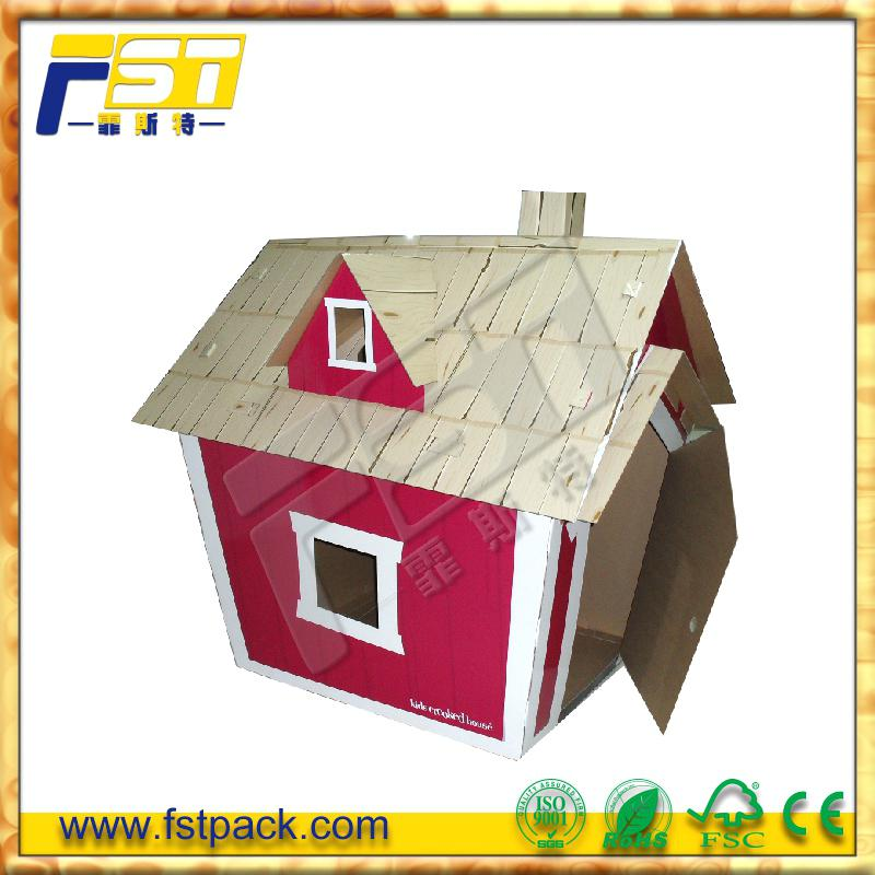 Exelent Cardboard Coloring House Pattern