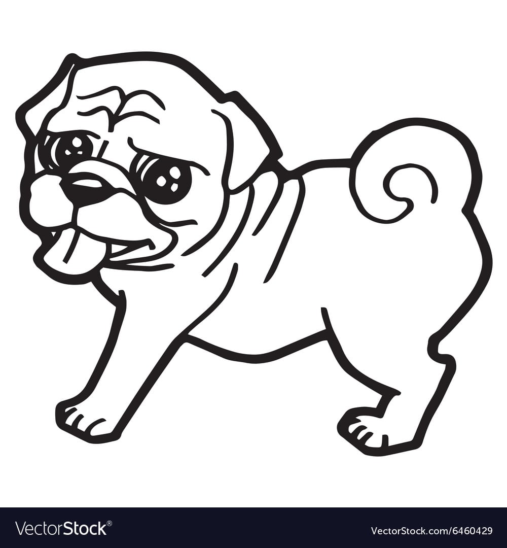 Cartoon Dog Coloring Book Royalty Free Vector Image