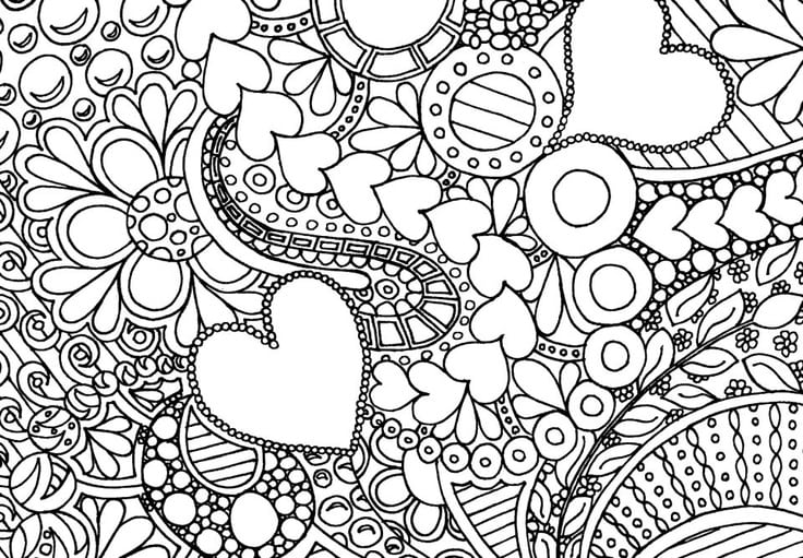 Bold Design Adult Coloring Pages Free Com