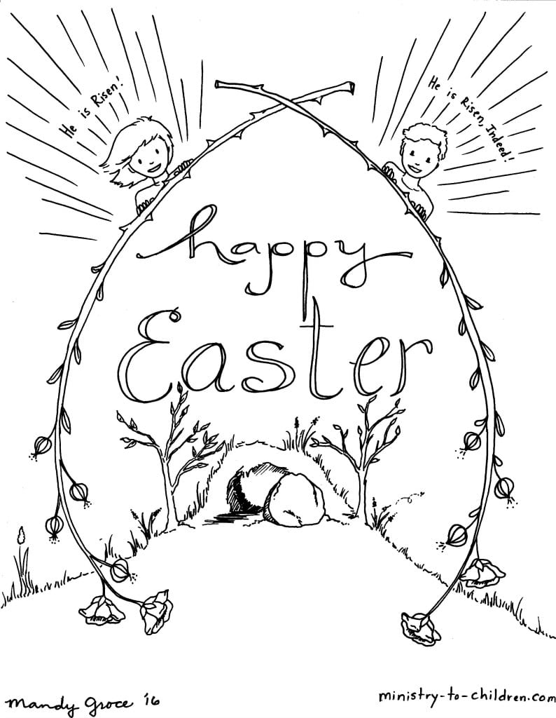 Christian Easter Coloring Pages Jesus Happy Color Bros