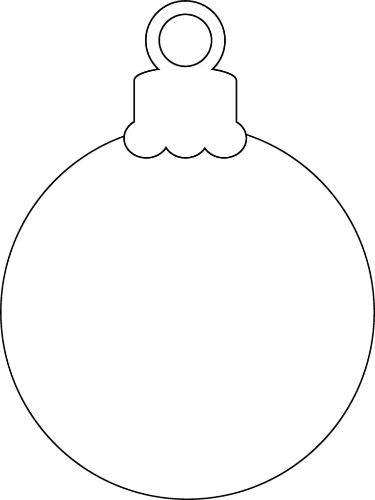 Christmas Ornaments Coloring Pages Tree Bulb Page Wreath