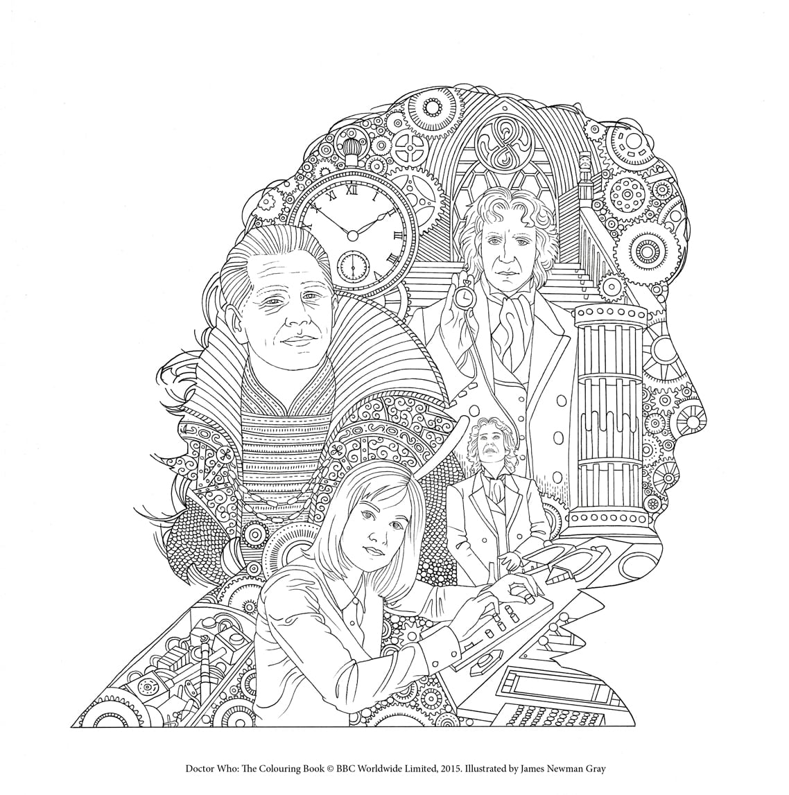 Coloring Doctor Who The Colouring Fabulous Dr Coloring Book Colors