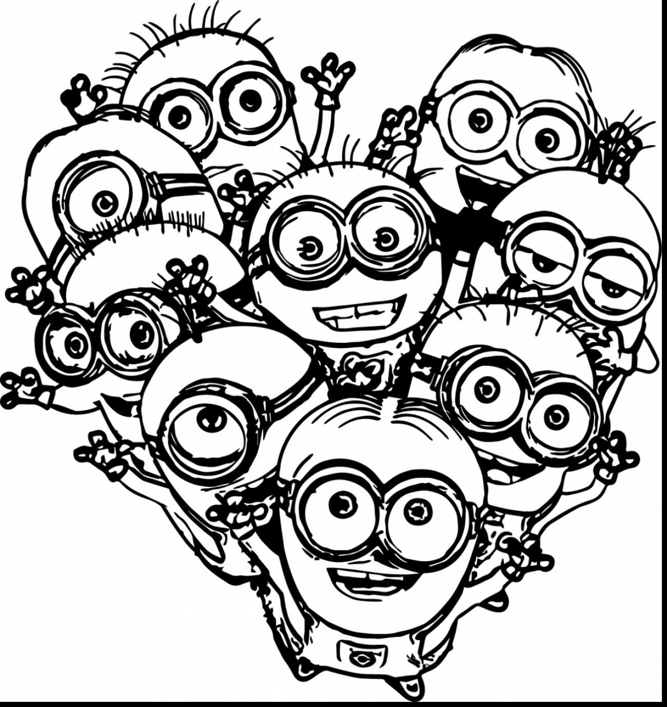 Coloring Pages Of Minions With Wallpapers High Resolution