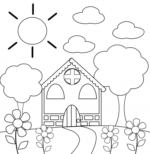 Coloring Pages Preschool Coloring Book