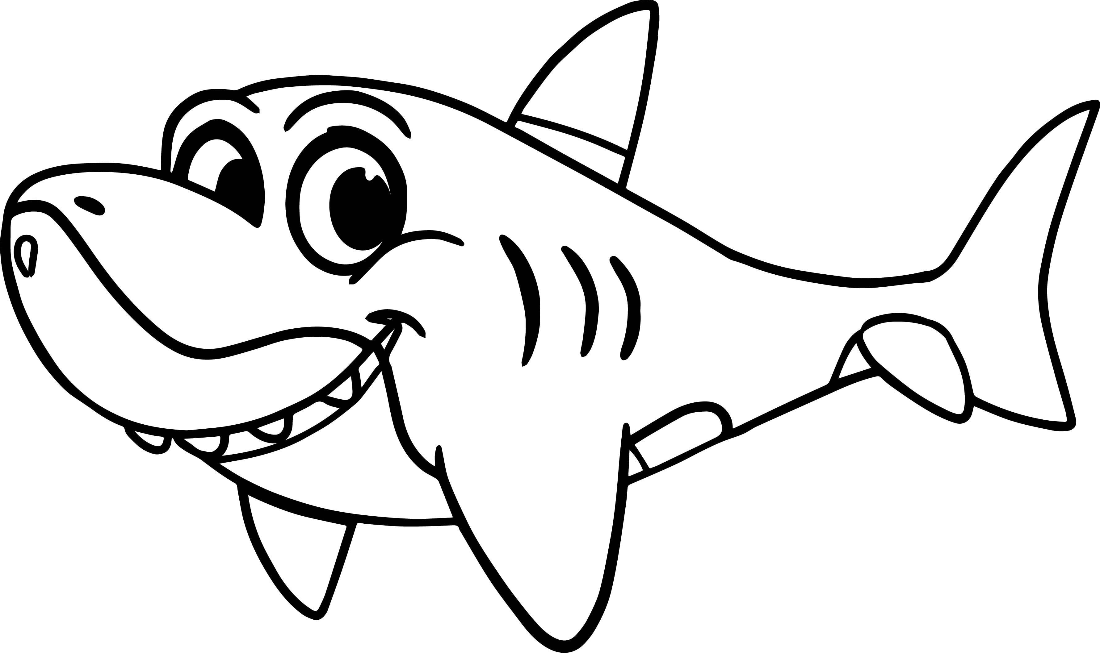 Coloring Pages Sharks Morphle Cartoon My Cute Shark Page