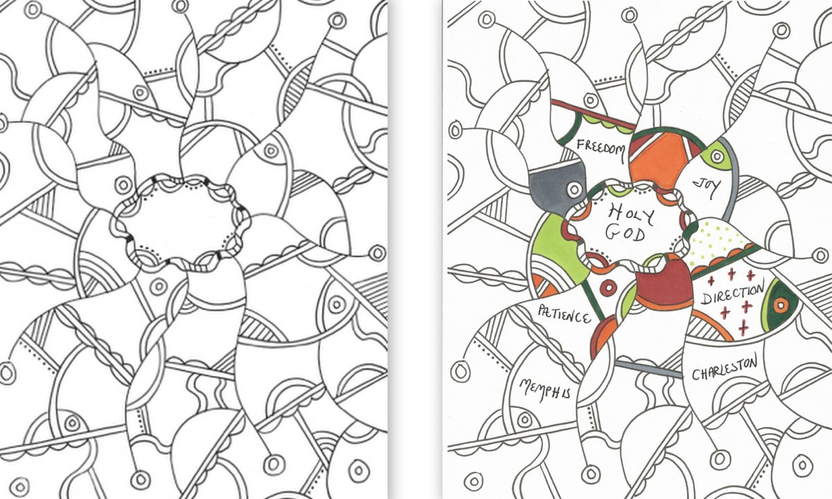 Praying In Color Coloring Pages