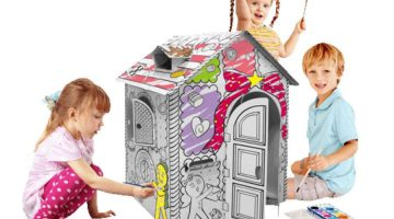 Cardboard Coloring House