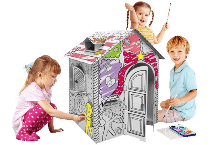 Enchanting Cardboard Coloring House Embellishment