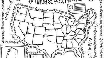 Us Map Coloring Page