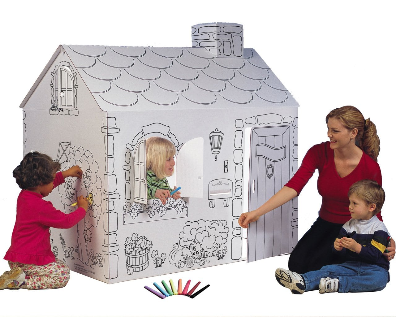 Mh5536r Cardboard Coloring Cottage