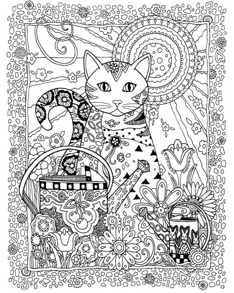 Creative Cats Coloring Book For Adults Ginger Plaza Printable