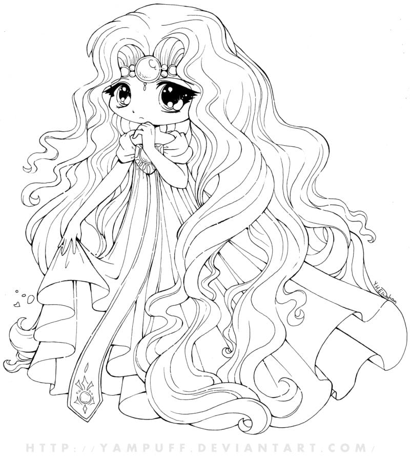 Cute Anime Coloring Pages 8  9999