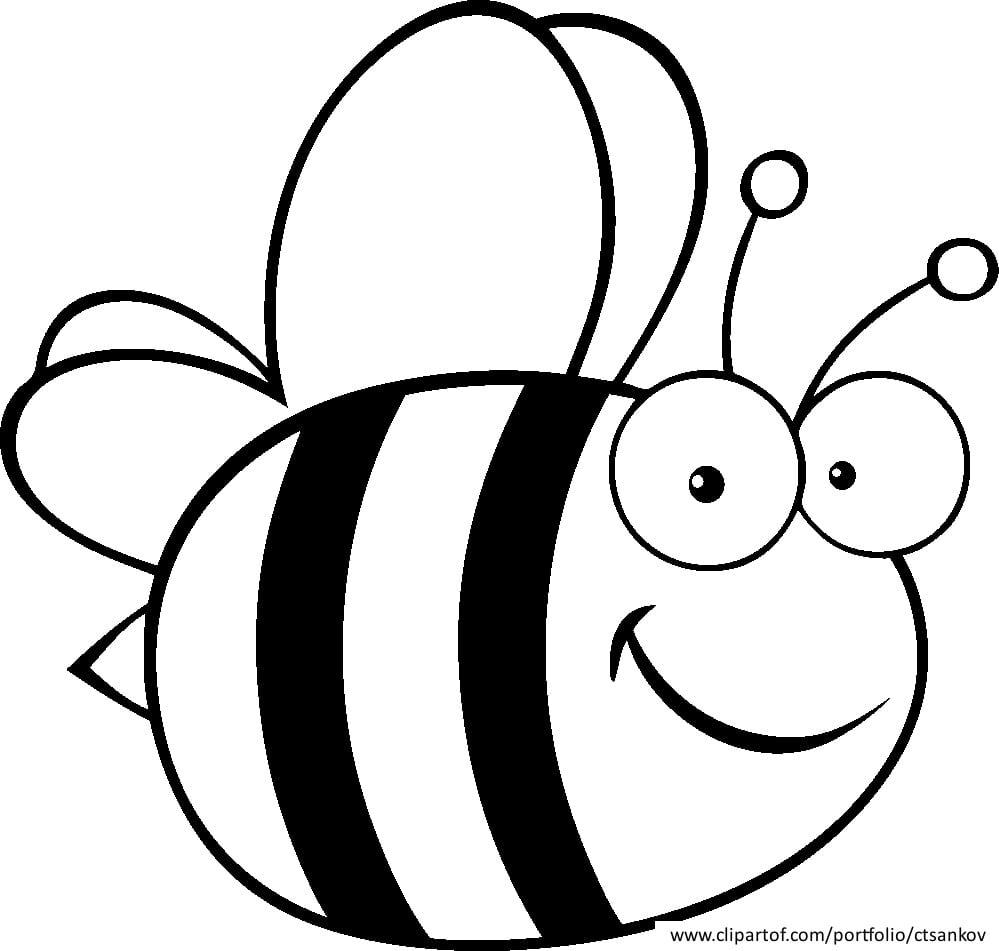 Cute Bumble Bee Coloring Pages Download And Print For Free