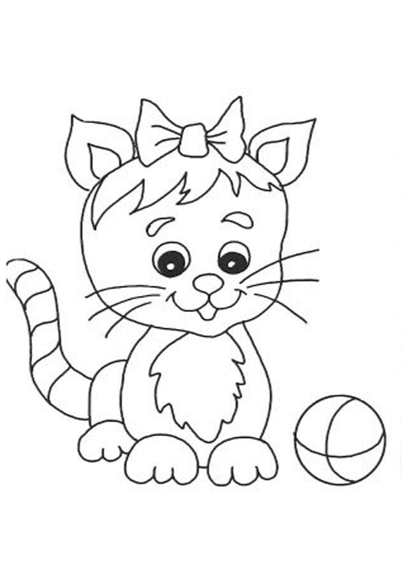 Cute Cat Coloring Pages Printable Free