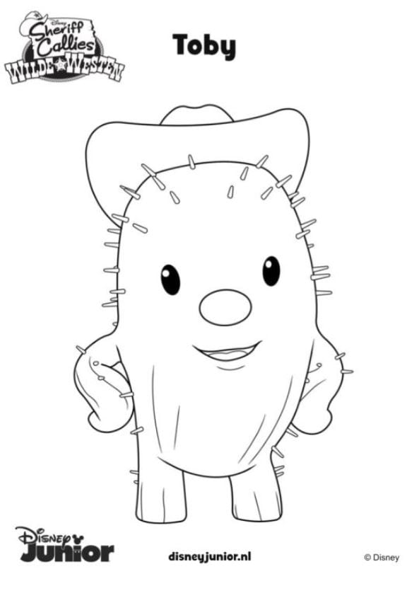 Disney Junior Coloring Pages Sheriff Callie For Pretty Draw Toby