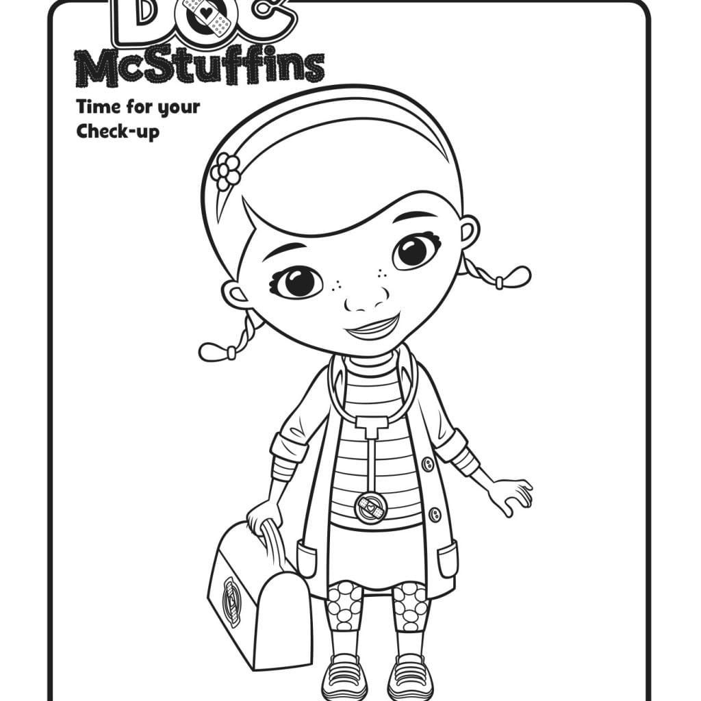 Doc Mcstuffin Coloring Pages Mcstuffins Archives And Color New