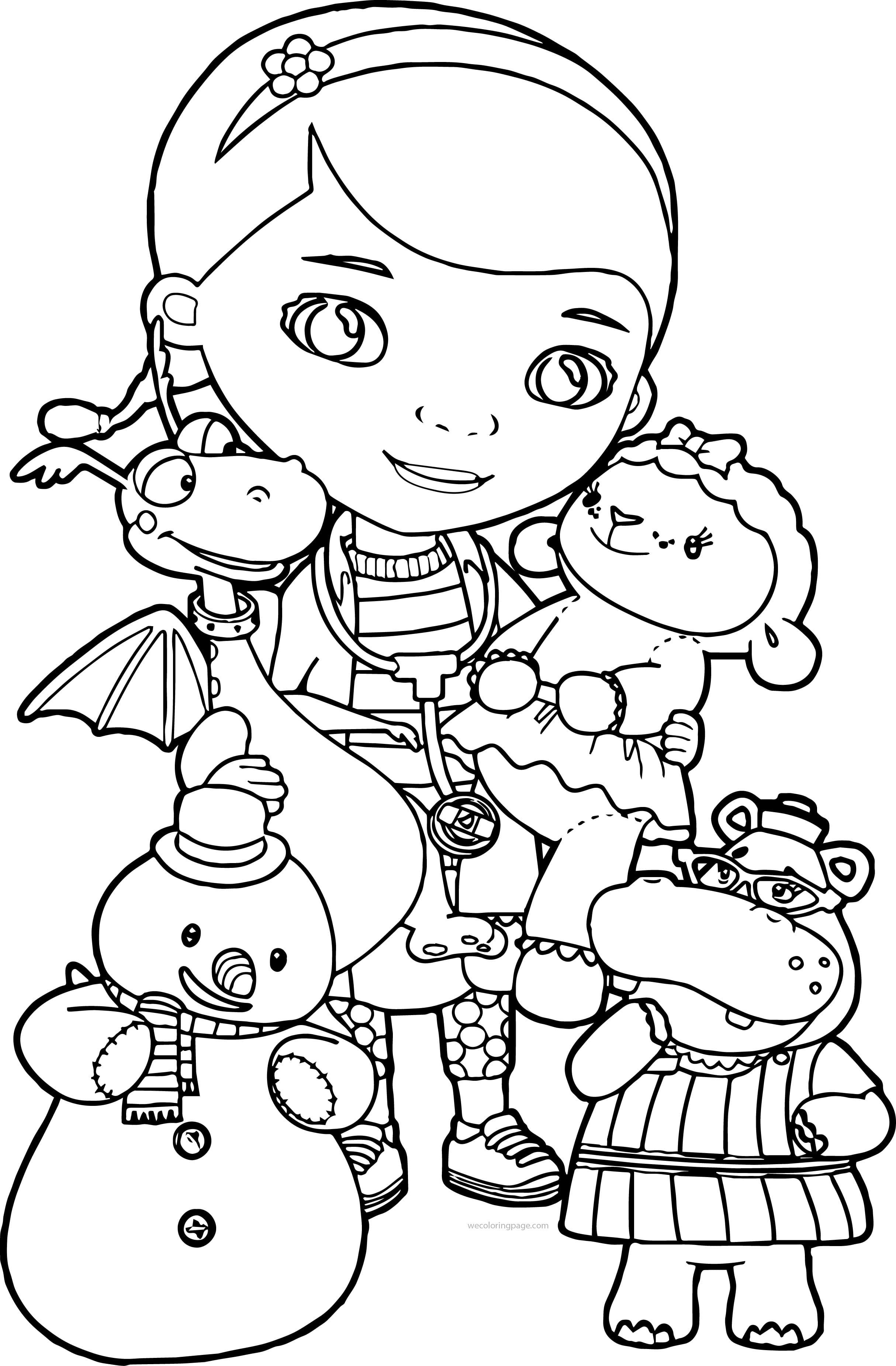 Doc Mcstuffins Coloring Pages Wecoloringpage At Page For