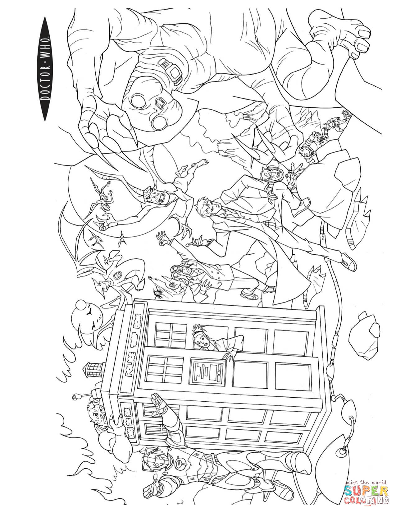 Doctor Who Coloring Page Free Printable Coloring Pages Color