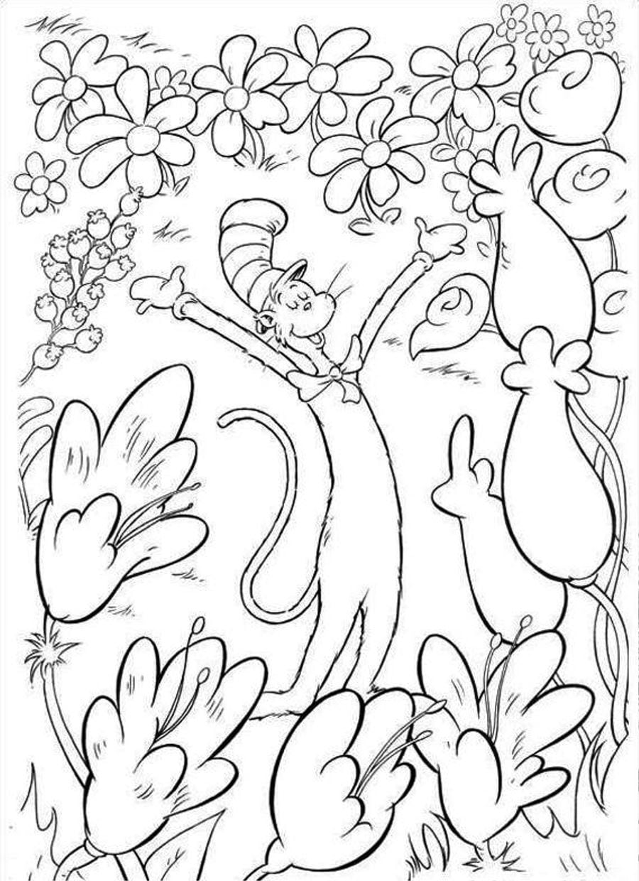 Dr Seuss Coloring Pages Bloodbrothers Me