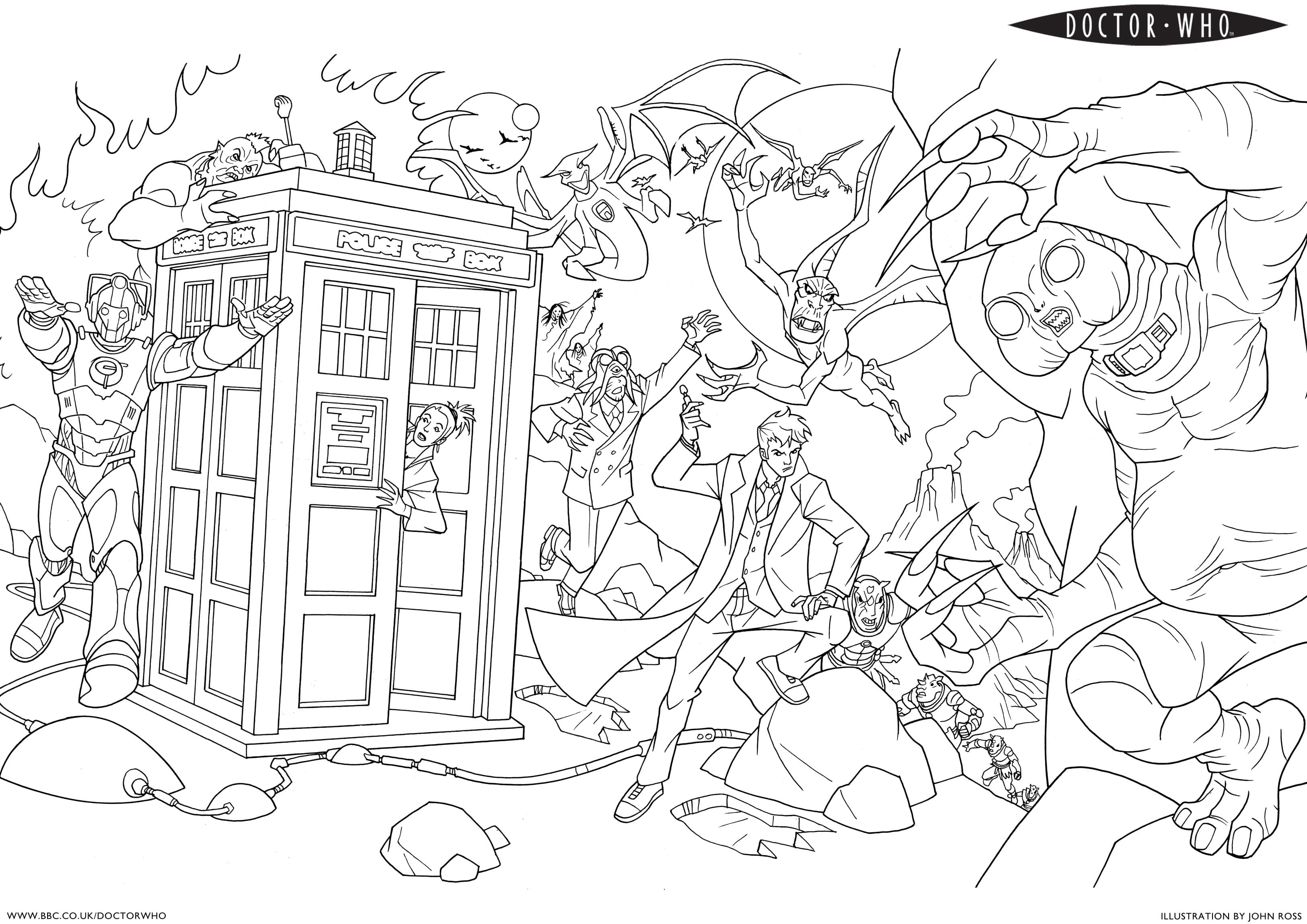 Dr Who Coloring Pages Printable Coloring Image Color Online 24306
