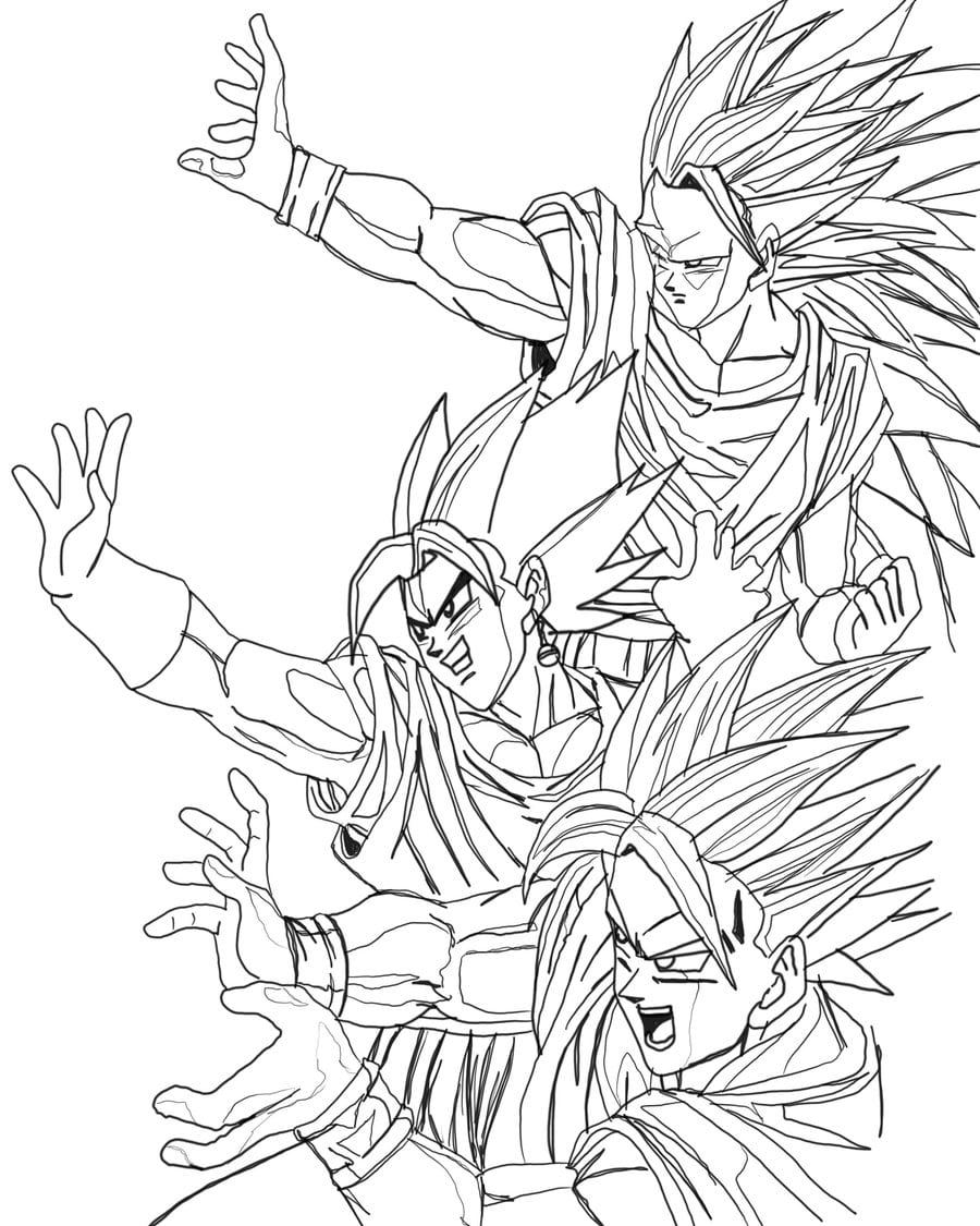 Dragon Ball Z Goku Coloring Pages To Print Coloringstar Unknown