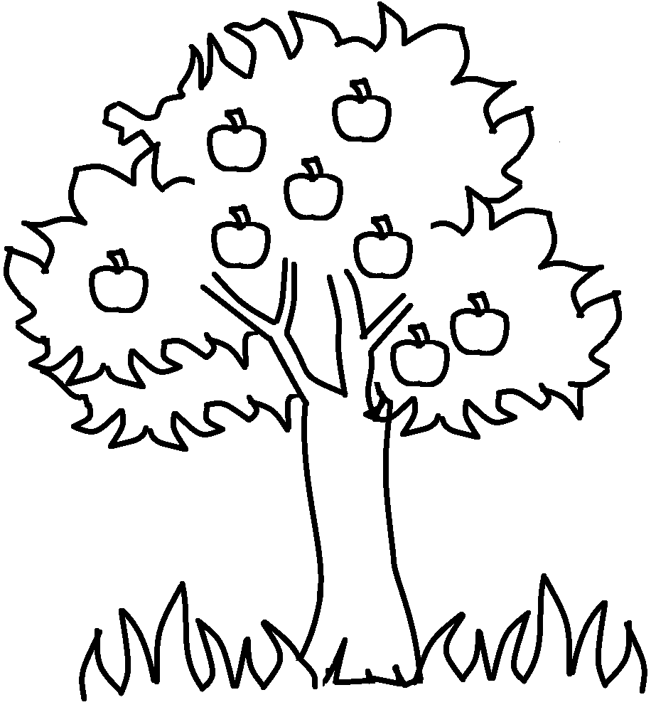 Apple Tree  9 (nature) – Printable Coloring Pages