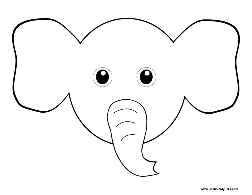 Ears Coloring Pages – Az Coloring Pages Elephant Ear Coloring Page
