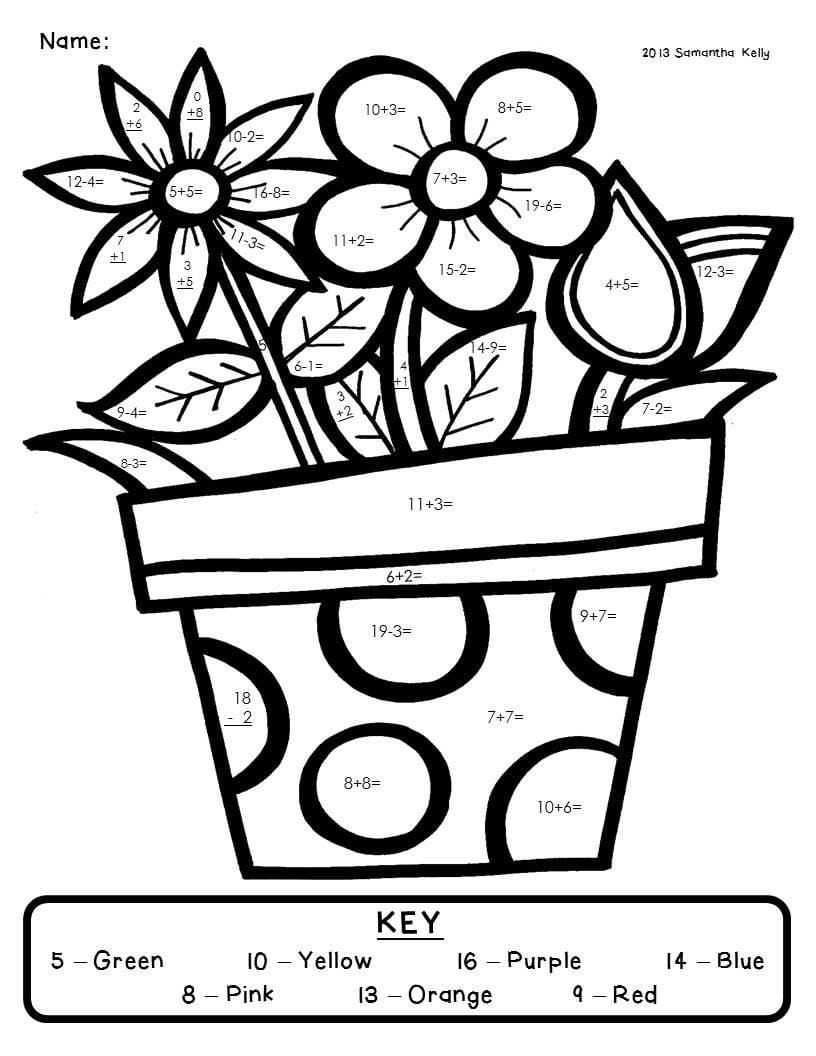 Easily Math Coloring Pages For 2nd Grade Full  8457