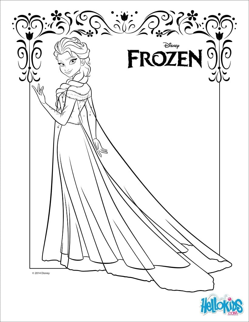 Elsa And Anna Coloring Pages Games Hellokids C  10054
