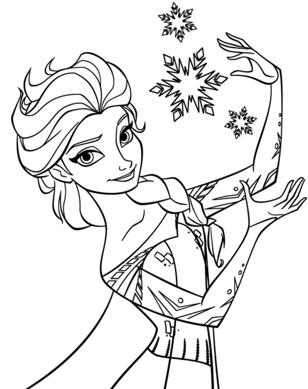Elsa Frozen Coloring Pages Page Wonderful Of Printable To Humorous