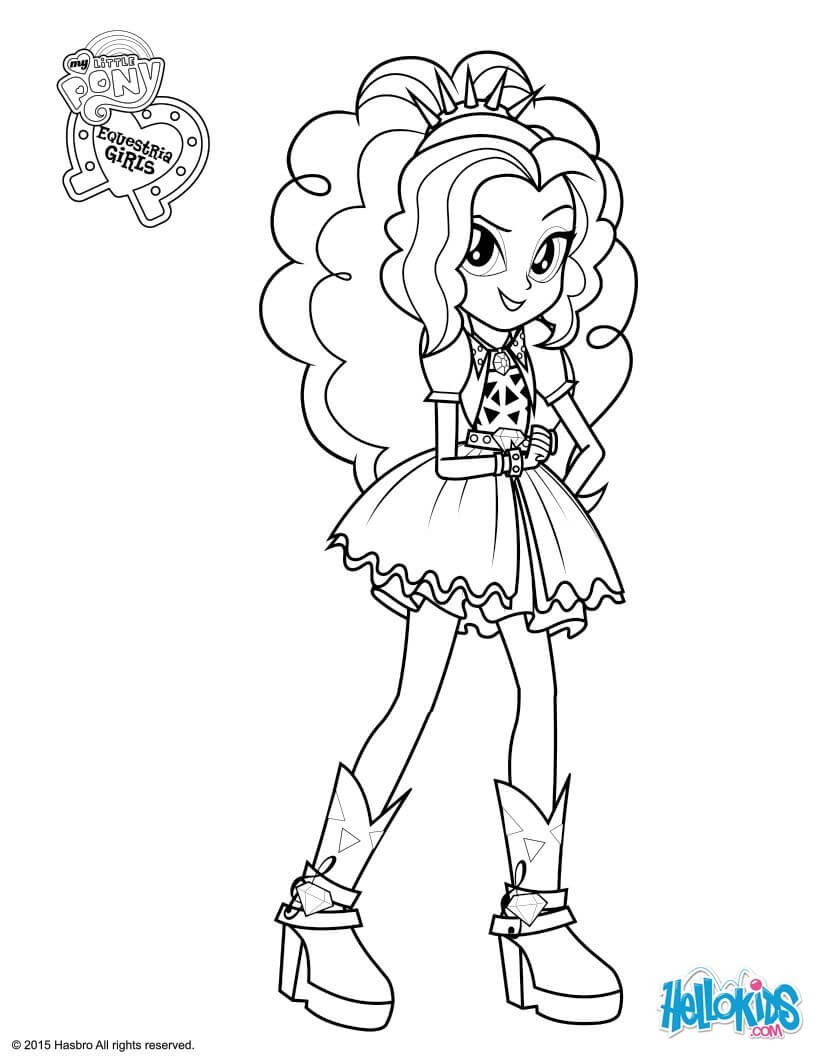 Girls Sunset Shimmer Coloring Pages Download