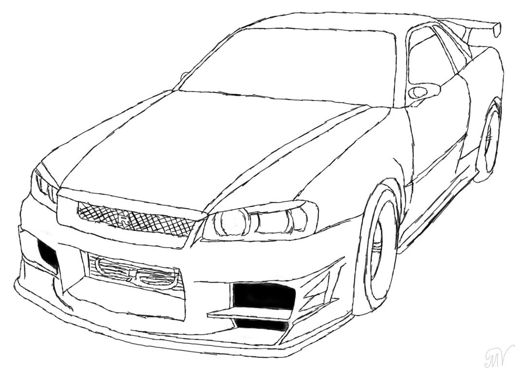 Fast And Furious Coloring Pages With Wallpapers Laptop
