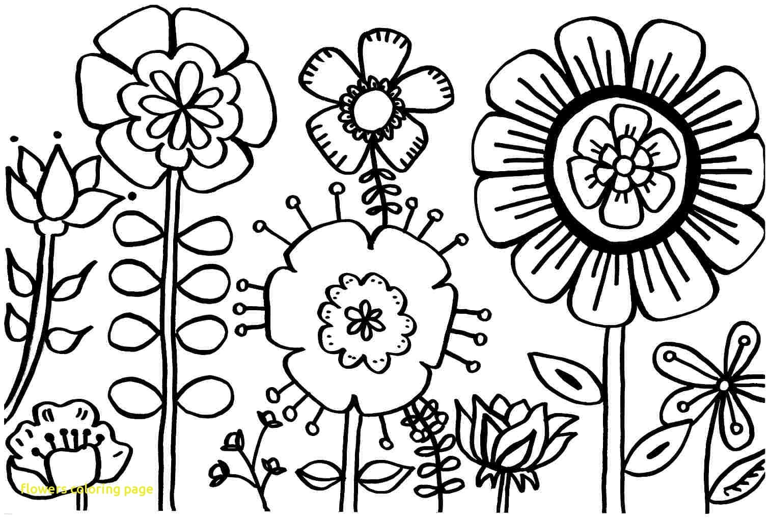Flowers Coloring Page With Spring Flower Pages Printable At