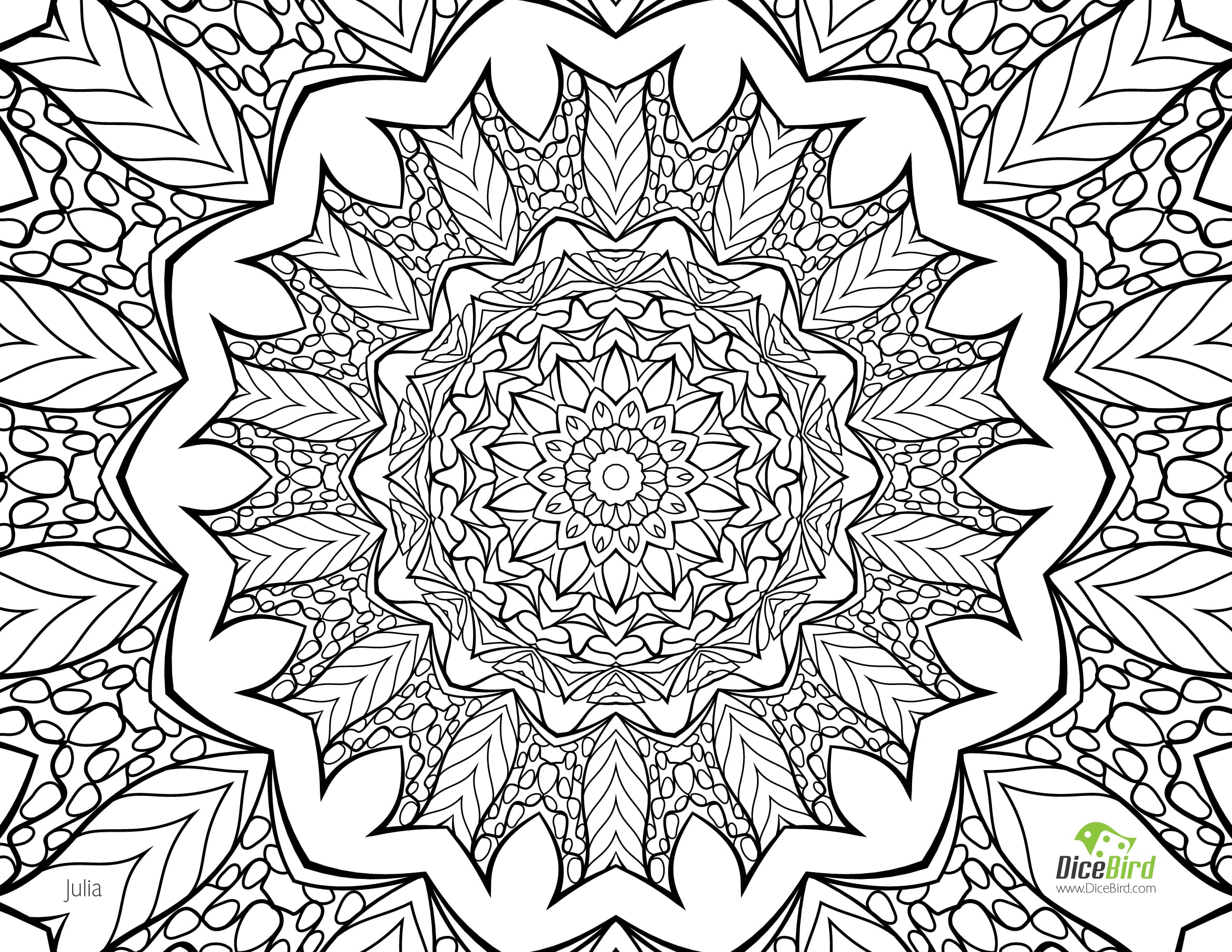 Free Printable Coloring Pages For Adults Only Delicate Flower