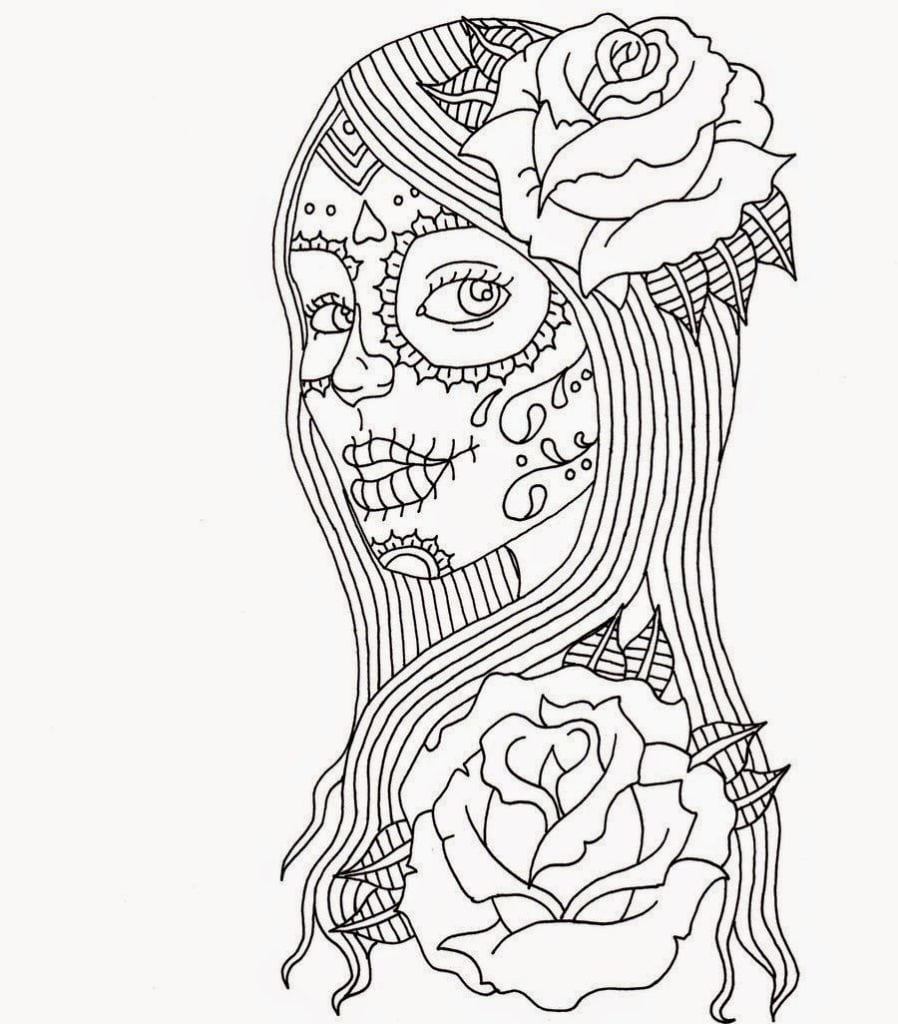 Free Printable Day Of The Dead Coloring Pages – Best Coloring