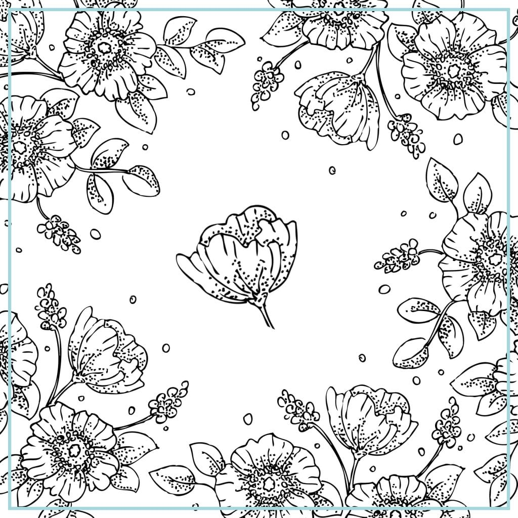 Free Printable Vintage Floral Coloring Pages To Print Also