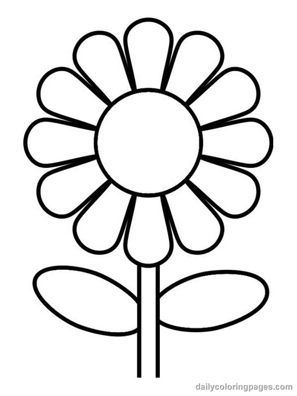Charming Design Coloring Page Flowers Flower Coloring Page 41