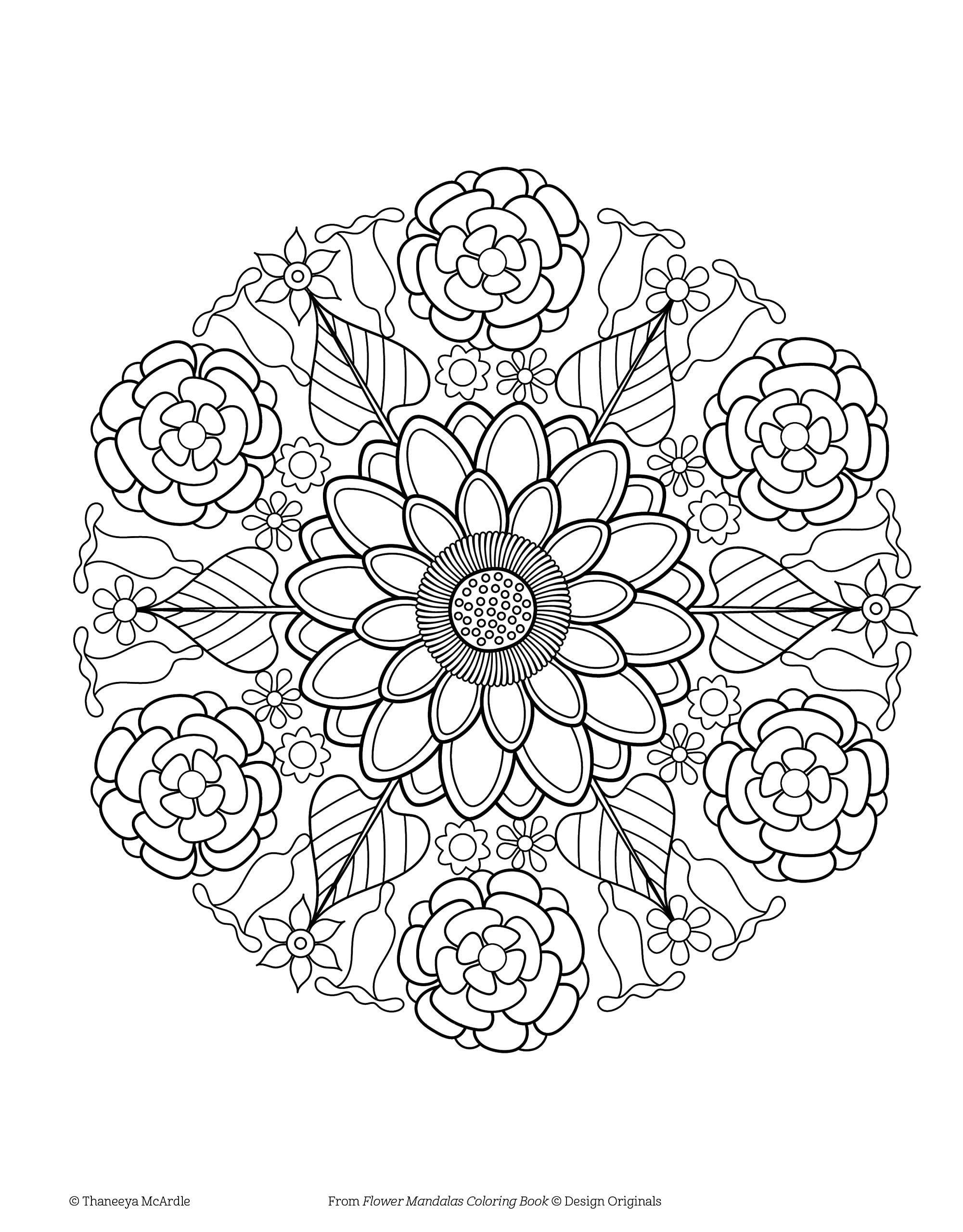 Fresh Mandalas Coloring Book
