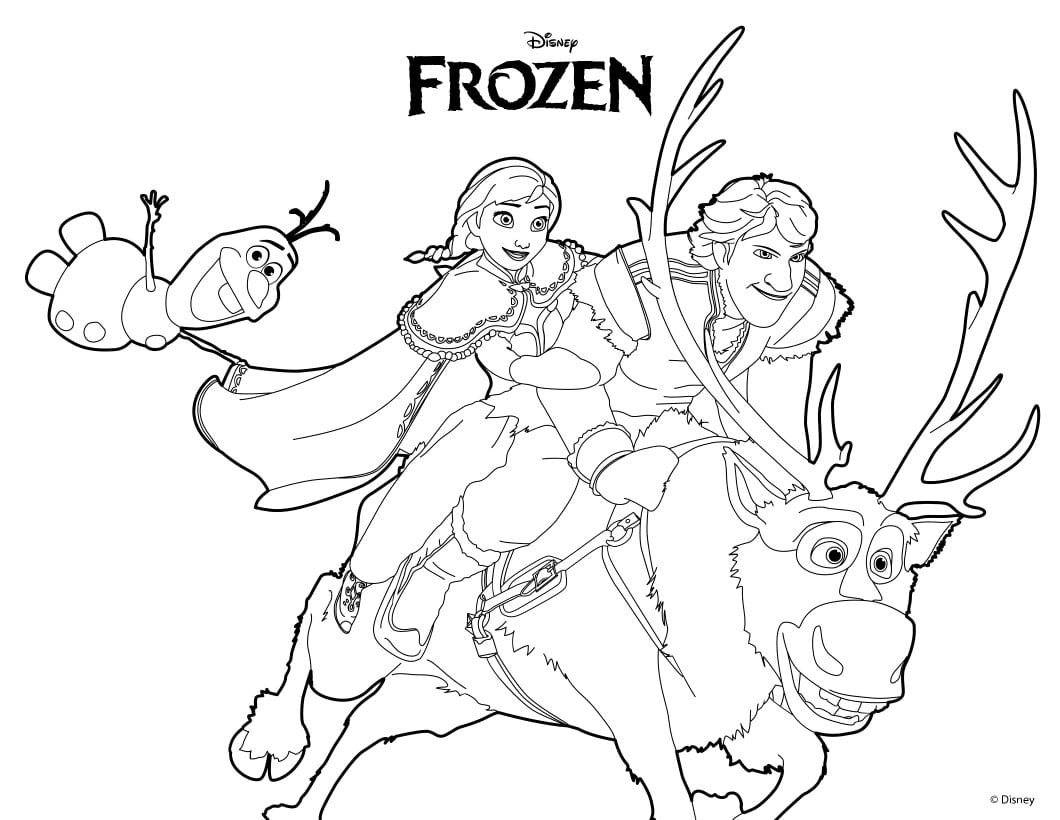 Frozen Color Pages Coloring Nice Paper Disney 7