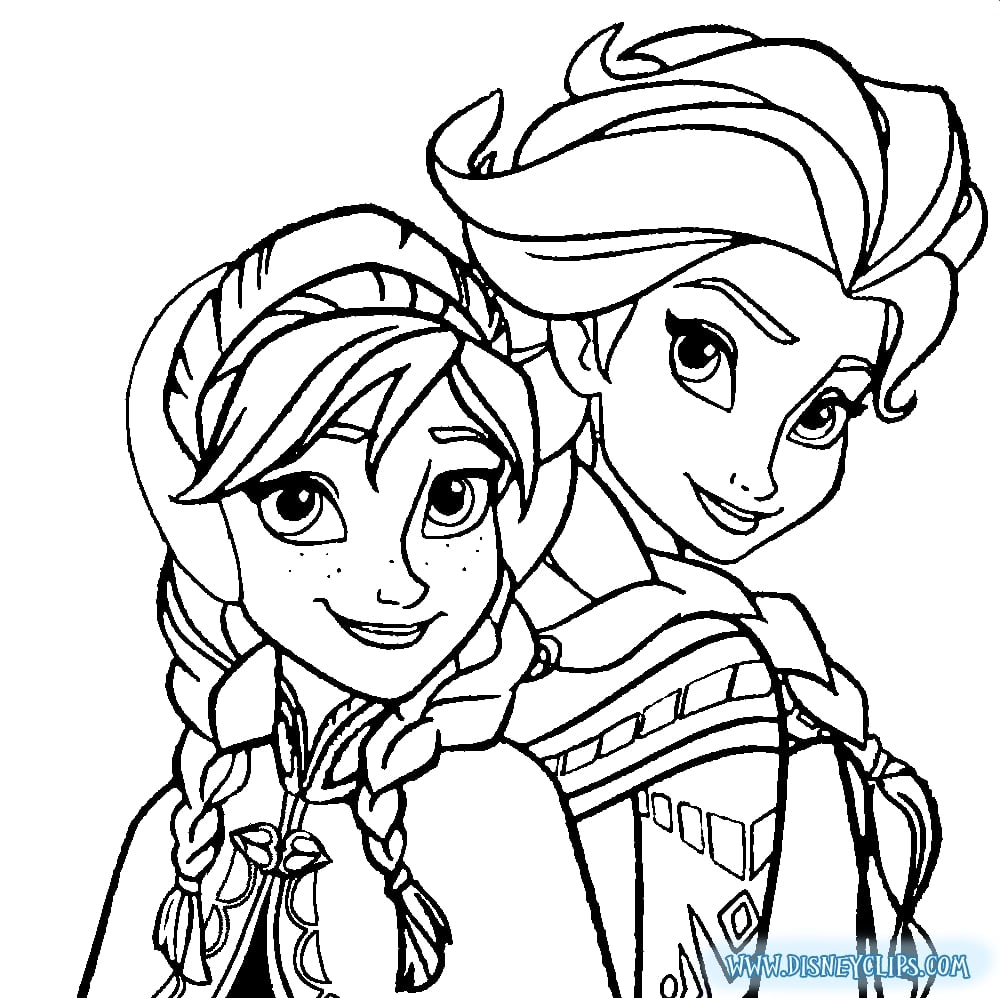Frozen Coloring Pages Elsa Face Neo Coloring With