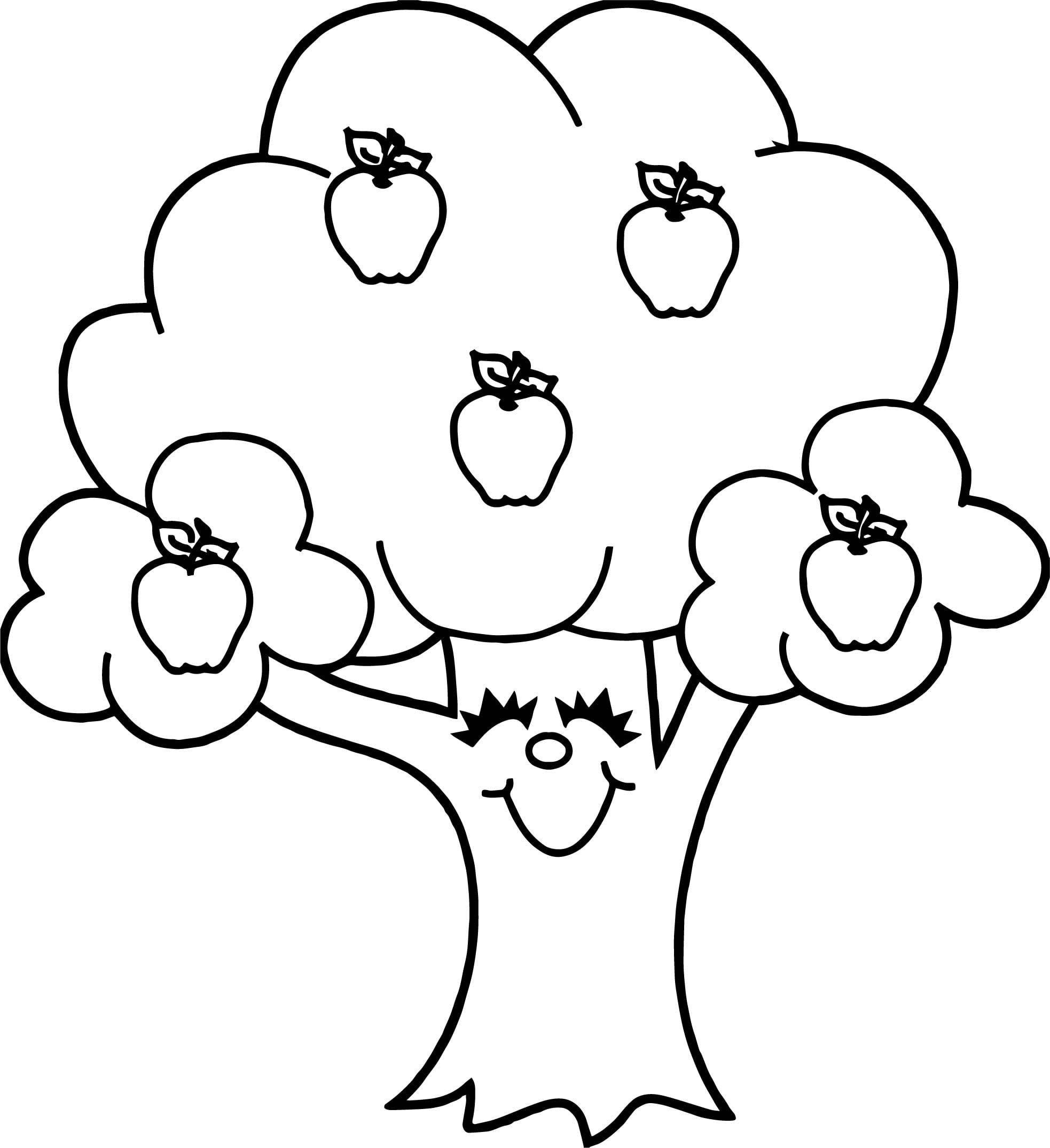 Funny Apple Tree Coloring Epic Apple Tree Coloring Page